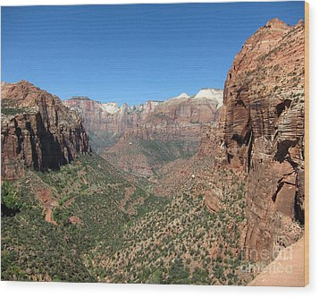 Zion Canyon Overlook Wood Print