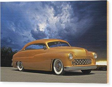 1950 Mercury Custom Wood Print by Dave Koontz