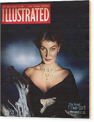 1950s Uk Illustrated Magazine Cover Wood Print by The Advertising Archives