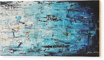 Abstract Painting  Wood Print by Jolina Anthony