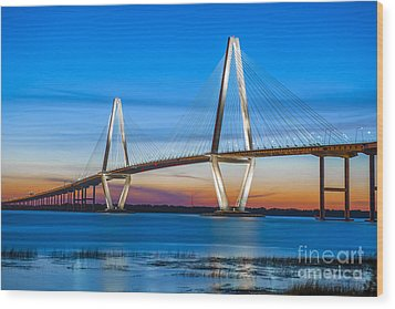 Charleston Arthur Ravenel Bridge Wood Print