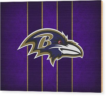 Baltimore Ravens Wood Print by Joe Hamilton
