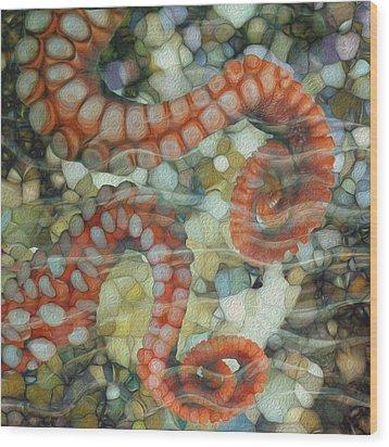 Beneath The Waves Series Wood Print by Jack Zulli