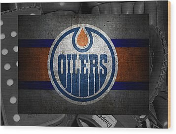 Edmonton Oilers Wood Print by Joe Hamilton