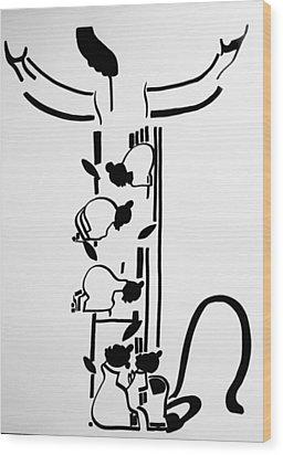 Five Wise Virgins Wood Print by Gloria Ssali