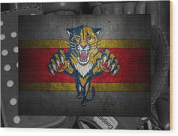 Florida Panthers Wood Print by Joe Hamilton