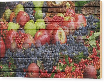 Fruit Wood Print by Joe Hamilton