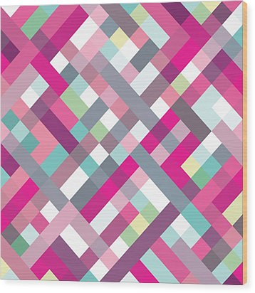 Geometric Art Wood Print by Mike Taylor
