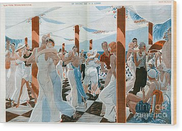 La Vie Parisienne  1931 1930s France Cc Wood Print by The Advertising Archives