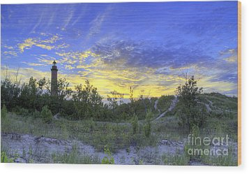 Little Sable Lighthouse Wood Print by Twenty Two North Photography