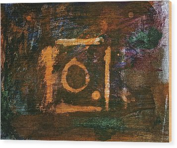 Wood Print featuring the painting Nameless by Tracey Myers