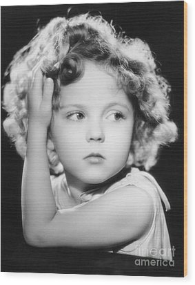 Shirley Temple Wood Print by MMG Archive Prints