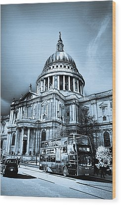 St Paul's Cathedral London Art Wood Print by David Pyatt