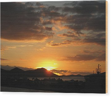 Sunset. Wood Print by Joyce Woodhouse
