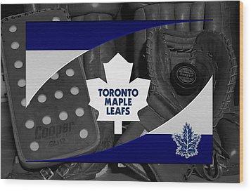 Toronto Maple Leafs Wood Print by Joe Hamilton