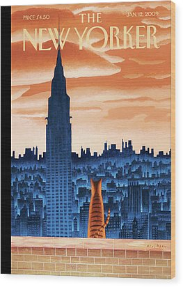 New Yorker January 12th, 2009 Wood Print by Mark Ulriksen