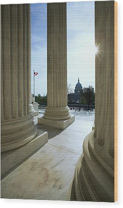 Usa, Washington, D Wood Print by Jaynes Gallery