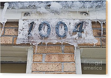 1004 Main Street Small Town Usa - Color Wood Print by Andee Design
