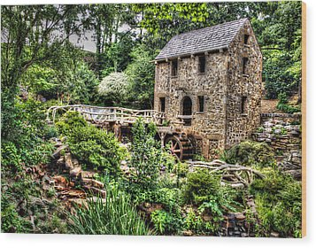 1007-2693 Pugh's Old Mill  Wood Print by Randy Forrester