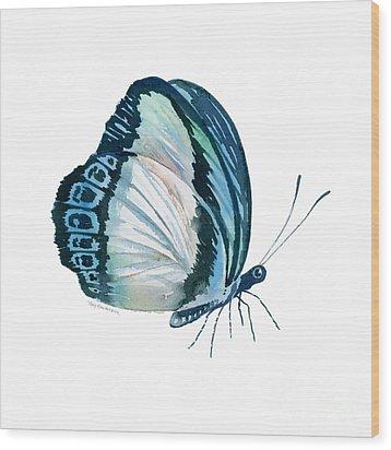 101 Perched Danis Danis Butterfly Wood Print by Amy Kirkpatrick