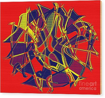1010 Abstract Thought Wood Print by Chowdary V Arikatla