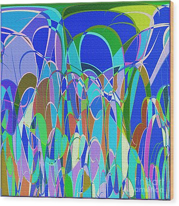 1014 Abstract Thought Wood Print by Chowdary V Arikatla