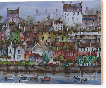 107 Windows Of Kinsale Co Cork Wood Print