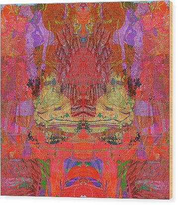 1074 Abstract Thought Wood Print by Chowdary V Arikatla