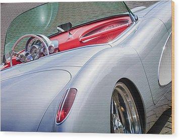 1960 Chevrolet Corvette Wood Print by Jill Reger