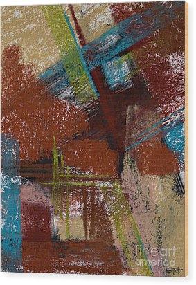 On The Diagonal Wood Print by Tracy L Teeter