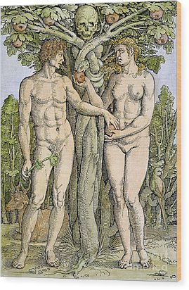 Adam And Eve Wood Print by Granger