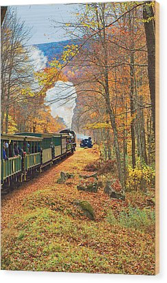 Cass Scenic Railroad Wood Print by Mary Almond