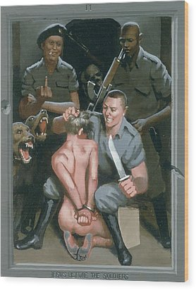 11. Jesus Before The Soldiers / From The Passion Of Christ - A Gay Vision Wood Print by Douglas Blanchard