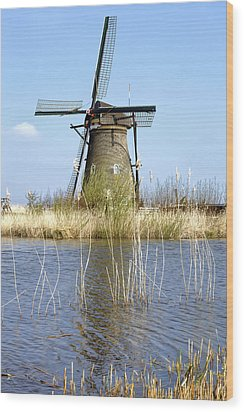 Kinderdijk Wood Print by Joana Kruse