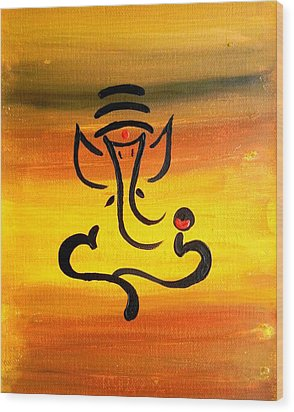 11 Nandana- Son Of Lord Shiva Wood Print by Kruti Shah