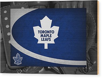 Toronto Maple Leafs Wood Print by Joe Hamilton