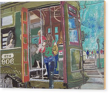 111708 New Orleans Street Car  Wood Print by Garland Oldham
