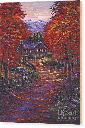 1133 Friendly House Wood Print by David Lloyd Glover