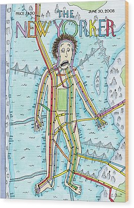 New Yorker June 30th, 2008 Wood Print by Roz Chast