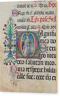 Anonymous Sienese Painter, Psalter Wood Print by Everett