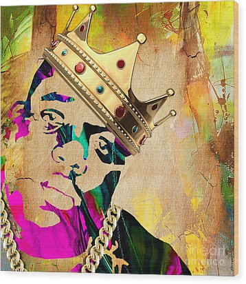 Biggie Collection Wood Print by Marvin Blaine
