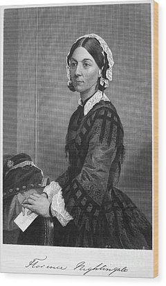Florence Nightingale Wood Print by Granger