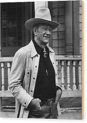 John Wayne Wood Print by Retro Images Archive