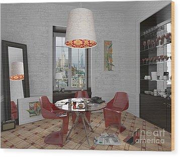My Art In The Interior Decoration - Elena Yakubovich Wood Print by Elena Yakubovich