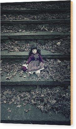 Old Doll Wood Print by Joana Kruse