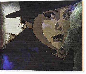 Selena Gomez Wood Print