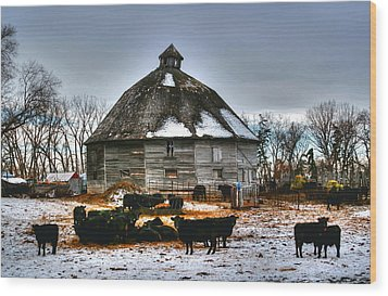 12 Sided Barn Wood Print by Larry Trupp