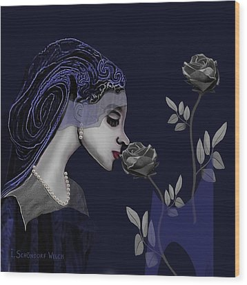 126 - A Young Woman With Roses ... Wood Print