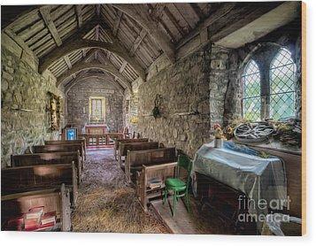 12th Century Chapel Wood Print by Adrian Evans