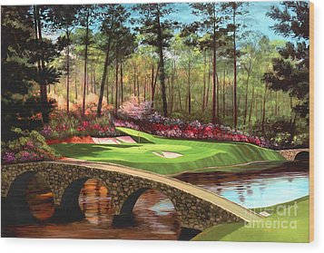 12th Hole At Augusta  Wood Print